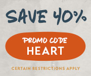 Save with promo code HEART
